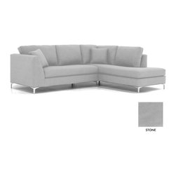 Apt2B - Mulholland 2PC Sectional Sofa, Stone, Chaise on Left - Classic and cozy with a modern twist. The clean lines of the Mullholland Collection will show off your chic style without taking center stage. Dress it up with a few toss pillows or a retro lamp, and watch your space come together.