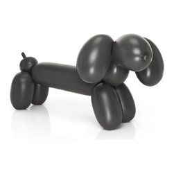 Fatboy - Inflatable Dachshund Hot Dog in Anthracite - The Hot Dog is made of a high quality PVC 0,35 and has weighted feet in order to create extra stability