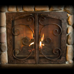 Ironhaus - Custom Fireplace Door - Ironhaus is renowned for our distinctive design, unparalleled craftsmanship, and meticulous attention to detail. There is no better example of that than in our gas fireplace doors & screens.