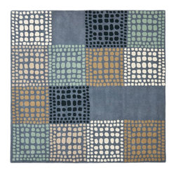 Safavieh - Contemporary Wyndham Square 7' Square Grey - Multi Color Area Rug - The Wyndham area rug Collection offers an affordable assortment of Contemporary stylings. Wyndham features a blend of natural Grey - Multi Color color. Hand Tufted of Wool the Wyndham Collection is an intriguing compliment to any decor.