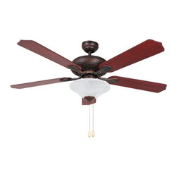 YOSEMITE HOME DECOR - 52 Inch Ceiling Fan in Oil Rubbed Bronze Finish with 72 inch lead wire - The Whitney ceiling fans collection features a 52 3 light with 72 lead wire ceiling fan in a stunning Oil Rubbed Bronze Finish. It requires 3 incandescent candelabra 60 watt bulbs. It is a dimmable fixture and the bowl glass shade covers are alabaster.