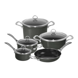 Chantal - Chantal Copper Fusion Cookware Set, Black, 9 Piece Set - Whether you're an experienced cook or just starting to entertain, this is the cookware set for you.