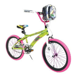 Zombie Princess - Zombie Princess 20 in. Girls Sleeping Beauty Bike Pedal Riding Toy Multicolor - - Shop for Tricycles and Riding Toys from Hayneedle.com! They can outrun any zombie outbreak or just tool around the neighborhood or head off to school on the Zombie Princess 20 in. Girls Sleeping Beauty Bike Pedal Riding Toy. This fun and durable 20-inch bike features rugged knobby tires that grab the road while the coaster brake and hand-activated caliper brakes keep them safely in control. The handlebar bag offers two zippered compartments giving it a modern take on the old-timey bike basket. The same zombified graphics on the handlebar bag match the ones on the saddle seat and a vivid array of colors on the frame spokes and tires give it a shocking style that she'll love to ride around on. There's plenty of safety reflectors easy-grip handlebar wraps and a handlebar pad making this bike safe comfortable and easy to control.About DynacraftEveryone at Dynacraft is committed to helping families bike smart and bike together. Based in American Canyon California Dynacraft is well known as an importer of affordable high quality bicycles for every member of the family. Dynacraft constantly keeps its eyes on both the future and our customers' ever changing needs. If it's not the latest in innovation and designed to the most exacting standards using top-of-the-line parts it's not Dynacraft.
