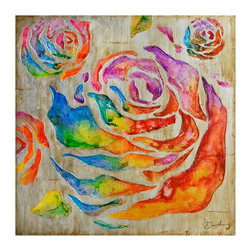 Yosemite Home Decor - Yosemite Home Decor Colored Roses II Wall Art - 40W x 40H in. Multicolor - FCK83 - Shop for Framed Art and Posters from Hayneedle.com! Rustic meets vivaciousness with the Yosemite Home Decor Colored Roses I Wall Art - 40W x 40H in.. This stunning piece of original artwork depicts an explosion of hand-painted roses in a bright rainbow of colors atop a neutral beige painted canvas. Playful bold and exuding whimsy this gorgeous painting is sure to be noticed no matter where it hangs in your home. It arrives ready to hang on a wall that begs for a shocking splash of vibrant color.About Yosemite Home DecorWith a variety of products in a variety of styles Yosemite Home Decor strives to provide a solution for every home design need. Based in Fresno Calif. Yosemite specializes in high-quality lighting fixtures faucets and related home decor products for commercial builder and residential markets.