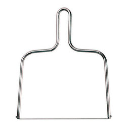 """Paderno World Cuisine - Cheese Wire Cutter, Stainless Steel, 8 1/4"""" width - This Paderno World Cuisine wire cutter, designed for cutting cheese, is made of a stainless steel frame and sharp stainless steel cutting wires.; wire cleanly cuts cheese; stainless steel construction; great for soft cheeses; comfortable grip; dishwasher safe; Weight: 0.2 lb; Made in France; Dimensions: 1.0""""H x 8.25""""L x 8.25""""W"""