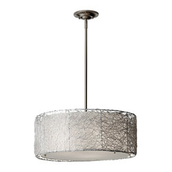 Murray Feiss - Murray Feiss F2702/3BS Wired 3 Bulb Brushed Steel Chandelier - Murray Feiss F2702/3BS Wired 3 Bulb Brushed Steel Chandelier