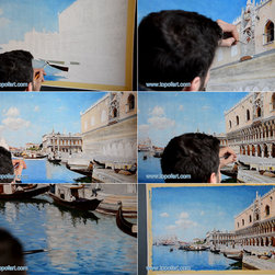 The Grand Canal, Venice   del Campo   Painting Reproduction - Federico del Campo - The Grand Canal, Venice, 1890 - Hand-Painted Oil Painting Reproduction.