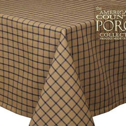 Concord Tablecloth - Add a masculine touch to your table with this beautiful plaid tablecloth. Even a lowly card table will take on a sophisticated look when it wears this cloth!