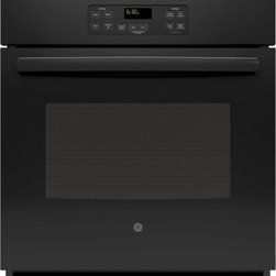 "GE - JK1000DFBB 27"" 4.3 cu. ft. Capacity Built In Single Wall Oven With Ten-Pass Bake - This built-in single wall oven comes with 43 cu ft oven capacity ten-pass bake element and eight-pass broil element giving you everything you will need in an oven"