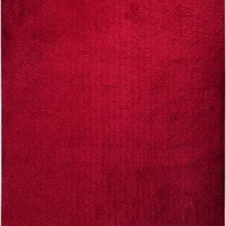 Surya Rugs - Surya HEA8003 Heaven Plush Hand Woven 100% Polyester Red Rug (3-Feet x 5-Feet ) - 100% Polyester. Style: Plush. Rugs Size: 3' x 5'. Note: Image may vary from actual size mentioned.