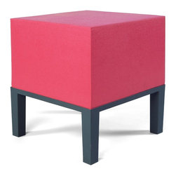 Quinze & Milan - Quinze & Milan Primary Pouf 01 - Bright colors and modern lines. This ottoman looks like a stylish piece for indoors but was made durable for the outdoors. The large cushion looks like the perfect place to kick off your shoes and relax.