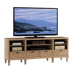 Lexington - Lexington Monterey Sands Spanish Bay Media Console 830-907 - Although we love our big television screens, the media components seem to get smaller as technology advances. The four drawers and three adjustable shelves offer storage and flexibility without requiring excessive square footage.
