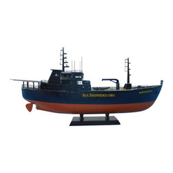 """Handcrafted Model Ships - Whale Wars - Bob Barker Limited 14"""" - Sold Fully Assembled"""