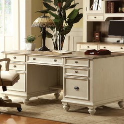 Riverside Coventry Two Tone Executive Desk