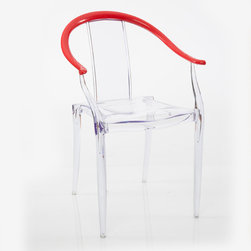 American Atelier - Adam Clear Chair - Accent your home with this clear contemporary chair from American Atelier Living by Jay. The seat is made of polycarbonate, and the arms are made of acrylonitrile butadiene Styrene (ABS).