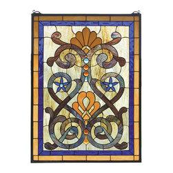 "Meyda Lighting - Meyda Lighting 77999 20""W x 27""H Mandolin Stained Glass Window - Meyda Lighting 77999 20""W x 27""H Mandolin Stained Glass Window"