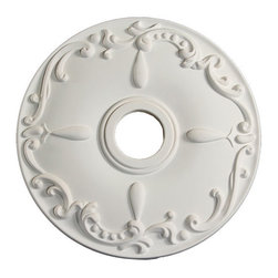uDecor - MD-5409 Ceiling Medallion - Ceiling medallions and domes are manufactured with a dense architectural polyurethane compound (not Styrofoam) that allows it to be semi-flexible and 100% waterproof. This material is delivered pre-primed for paint. It is installed with architectural adhesive and/or finish nails. It can also be finished with caulk, spackle and your choice of paint, just like wood or MDF. A major advantage of polyurethane is that it will not expand, constrict or warp over time with changes in temperature or humidity. It's safe to install in rooms with the presence of moisture like bathrooms and kitchens. This product will not encourage the growth of mold or mildew, and it will never rot.