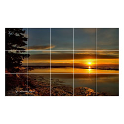 Picture-Tiles, LLC - Sunset Picture Kitchen Bathroom Ceramic Tile Mural  18 x 30 - * Sunset Picture Kitchen Bathroom Ceramic Tile Mural 1935