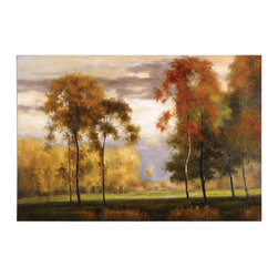 Uttermost - Uttermost 32226 Majestic Friends Painting - Stretched canvas. This vibrant landscape is hand painted on canvas and stretched and attached to wooden stretching bars. Due to the handcrafted nature of this artwork, each piece may have subtle differences.