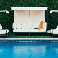 Mediterranean Outdoor Chaise Lounges by Richard Frinier Design Studio