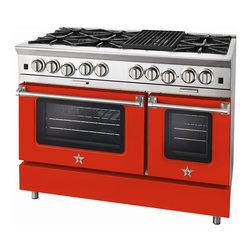 """BlueStar Platinum Series: 48"""" Range - 48"""" BlueStar Platinum Range in Vermilion (RAL 2002)"""