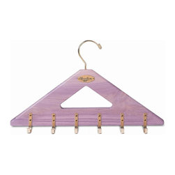 Woodlore - Cedar Belt Hanger in Natural Finish - Holds 24 belts (2 per hook). Brass-plated hardware. Generous space between hooks accommodates even those belts with large decorative buckles. Aromatic Cedar, with its distinct fragrance helps repel insects and keeps closets and drawers smelling naturally fresh. Light sanding of the Cedar rejuvenates the natural aromatic scent. No assembly required. 18 in. L x 3 in. W x 8.5 in. H (0.98 lb.)The perfect solution for the person with a belt for every outfit.