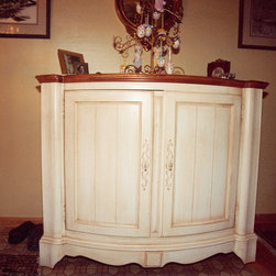 French Country Kitchen - This French Country cabinet was the inspiration for the new cabinetry to be installed in the homeowners new open concept kitchen, dining and living rooms.