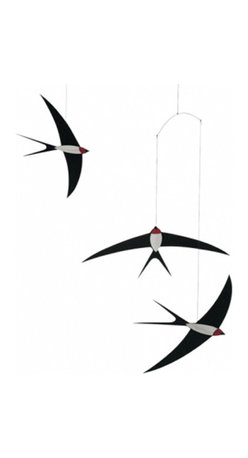 Flensted Mobiles - Swallow Mobile - Hang this mobile over your bed or sofa to recall the elegant flight and clever aerobatics of the swallow.