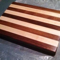 "Maple - Walnut / Small Cutting Board - Handmade Cutting Board shown in Maple - Walnut / Small 7"" x 10"" x 1"" for $20 + Shipping."