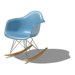 Herman Miller - Eames Molded Plastic Rocking Chair - This isn't your great-grandmother's rocking chair. The molded plastic body of this chair is a signature of the Eames design. Comfortable, sturdy and made to last for decades, it will become a conversation piece in your home. Rock on!