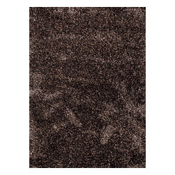 Jaipur Rugs - Shag Solid Pattern Polyester/ Wool Black/Tan Area Rug (2' x 3') - Fashion takes to the floor with Nadia, a stylish new range of shags. With a decadently dense pile of multi-textured wool and polyester blended yarns, this collection is offered in a beautiful array of unexpected color palettes.