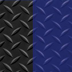 "buyMATS Inc. - 2' x 3' Supreme Diamond Foot 11/16"" Black/Blue - Features:"