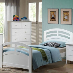 Acme Furniture - San Marino White Finish Full Bed - 19155F - San Marino Collection Full Bed