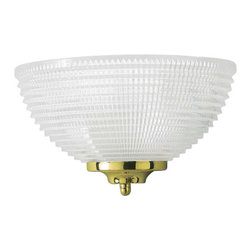 "Volume Lighting - Volume Lighting V6611 5.75"" Height Wall Sconce - 5.75"" Height Wall Sconce with One Light and Clear Ribbed GlassDelicate and fetching, this 1 light wall sconce features dazzling clear ribbed glass and is a lovely addition to your decor.Features:"