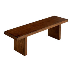Jofran Braeburn Rough Hewn Cherry Bench
