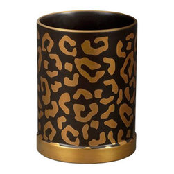"L'Objet - L'Objet Leopard Pencil Cup - Meticulously handcrafted from select metals and Limoges porcelain, L'Objet Desk Accessories comprise a whimsical collection that is complex in color, rich in texture, and global in design. 24K Gold Hand-applied Decal Measures: 3.5"" / 9cm 'Genuine Limoges Porcelain Luxuriously Gift Boxed. L'Objet is best known for using ancient design techniques to create timeless, yet decidedly modern serveware, dishes, home decor and gifts."