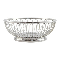 Alessi - Alessi Round Wire Basket - For the items in your kitchen that you want to display as much as contain, this classic round wire basket is the perfect piece. This stainless steel bowl is mirror-polished, so it'll gleam on your countertop or table — and discreetly hold your tiny objects.