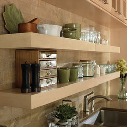Floating Shelves - Create open storage for easy access to everyday items, like glasses and plates, or to display decorative or special items, like vases or pottery.