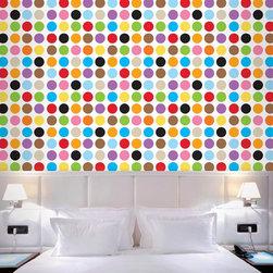 Wallcandy Arts - French Bull Multi Dot Removable Wallpaper - French Bull Multi Dot Removable Wallpaper