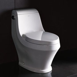 """Ariel - Ariel TB133M White Adonis Adonis Toilet One Piece Elongated with Soft - Adonis Toilet One Piece Elongated with Soft Close Seat Ariel TB133M Features:  Contemporary European Style 12"""" One Fit Rough-in Technology Stain Resistant High Quality Glaze Finish Elongated Bowl Soft Close Non-slamming Seat Included One Piece Construction WaterSense Certified 1.6 Gallons Per Flush  Ariel TB133M Specifications:  Length: 29.13"""" Width: 15.75"""" Height: 28.35"""" Bowl Height: 15.55"""" Warranty: 5 Years Parts Warranty"""