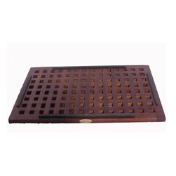 """Deco Teak - 23"""" x 15"""" Grate Teak Shower, BVath and Outdoor & Floor Mat - Deco Teak 23"""" x 15"""" grate solid teak floor and shower mat provides elegant functionality in our out of the shower. It has a non slip rubber track on the back to prevent the mat from shifting on the shower floor. Slats provide space for ease of water drainage through the floor. Teak is naturally water, mold, and mildew resistant due to its natural density and high oil content. It has been the wood of choice for hundreds of years of luxury boat builders. This natural resistance has been supplemented by using our proprietary Deco Teak stain which is a deep penetrating stain with added mold, mildew, and fungus inhibitors. It provides the ability for this teak mat to be used outdoors as well as indoors. Slip resistant rubber tracks underneath; Slats for ease of water drainage; No assembly required; Dimensions: 23"""" L x 15.6"""" W x 1"""" H"""
