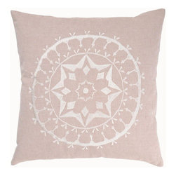 Rizzy Home - Flax and Off White Decorative Accent Pillows (Set of 2) - T3455A - Set of 2 Pillows. Pillow Cover with Hidden Zipper. Maretial: Cotton Slub Fabric. Embroidered Details. Hand Wash in Cold Water. Lay Flat to Dry. Transitional. Color: Flax - Off White.