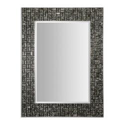 Uttermost - Black And Silver Allaro Rectangular Wall Mirror - Black And Silver Allaro Rectangular Wall Mirror