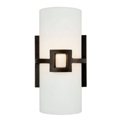 Design House - Monroe Oil Rubbed Bronze One-Light ADA Wall Sconce - A beautiful accent to any wall.  - Wall mount.  -Back plate: 4.75 in. Diameter. Design House - 514604