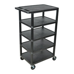 Luxor - Luxor Transport Cart - BC50-B - Luxor's BC's series are multi-tiered, lightweight carts made for every type of environment. It is constructed from high density polyethylene structural foam molded plastic shelves.