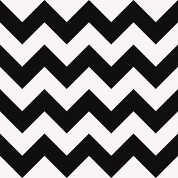 "Hueloom - Chevron Wall Covering, Black and White, 21"" X 120"", Artist - Our high quality, eco-friendly custom wall coverings feature patented aqueous-based microsphere surface tension adhesive that leaves no residue, allowing repeated removal for repositioning and re-use. All product is manufactured and printed exclusively in the USA, using the latest digital printing technology, from 100% recycled materials."