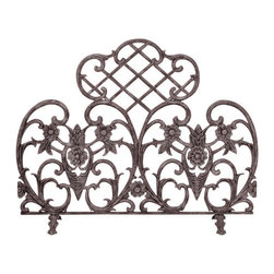 Uniflame - Uniflame S-5812 Single Panel Bronze Finish Cast Aluminum Screen - Single Panel Bronze Finish Cast Aluminum Screen belongs to Fireplace Accessories Collection by Uniflame