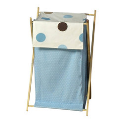 Blue & Chocolate Mod Dots Hamper