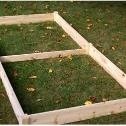Eden Raised Garden Bed - 8 x 4 ft. - Make sure you have enough room to grow with the Eden Raised Garden Bed - 8 x 4 ft. as your garden. This raised garden bed is an attractive and functional alternative to in-ground gardens. With a raised garden bed there are fewer weeds, better water retention, and 100% control of the soil your crops are grow in. This rectangular raised garden bed assembles in minutes without the need for tools. It offers 32 square feet of high-yield growing bed and is engineered in the USA. This raised garden bed is made of rot-resistant solid fir wood. If desired, paint or stain it to match your surroundings. You may also protect the natural color with a clear coat of polyurethane or leave it bare to silver naturally over time. Fir wood is bio-degradable. About RiverstoneWorking from the motto, Green Products for a Brighter Future, Riverstone Industries was born from the desire to bring products that were good for the environment to the mass markets. Their mission is to solve problems through innovation and function while keeping value and customer service at the forefront of their thinking. Riverstone prides themselves on offering innovative improvements to existing products currently found in the marketplace. Riverstone has maintained a position of outstanding quality and customer satisfaction through the years, ensuring their growth and expanding their current stature.
