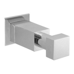 Pristine Robe Hook - Satin Nickel - The Pristine Robe Hook is designed using right angles to make a bold statement. Pair with other pieces from the Square Bollard Collection to complete the look.